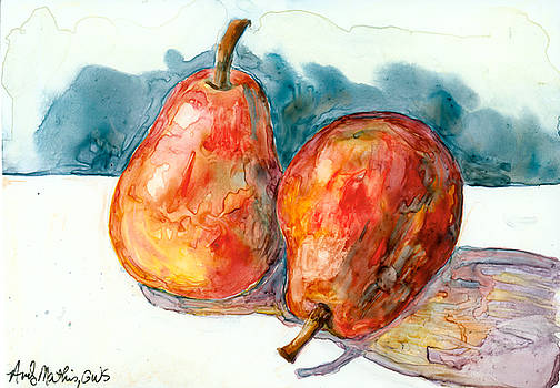 2 Red Pears by Andy  Mathis