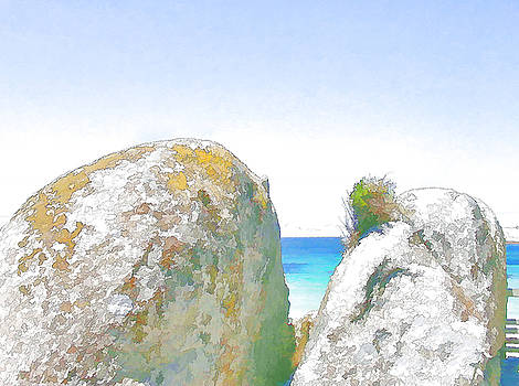 2 Rocks by the Sea by Jan Hattingh