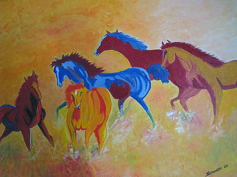 Running In A Dust by Saman Khan