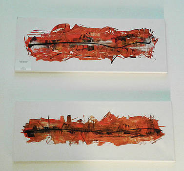 Series Abstract Worlds ONLY ORIGINALS FOR SALE Worldwide Shipping by Sir Josef - Social Critic - ART
