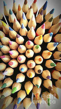 BERNARD JAUBERT - Stack of colored pencils