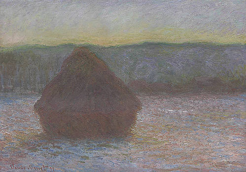 Claude Monet - Stack of Wheat, Thaw, Sunset