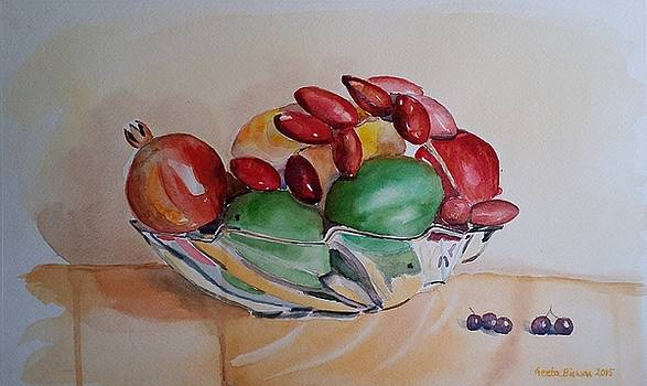 Still life Fruits by Geeta Biswas