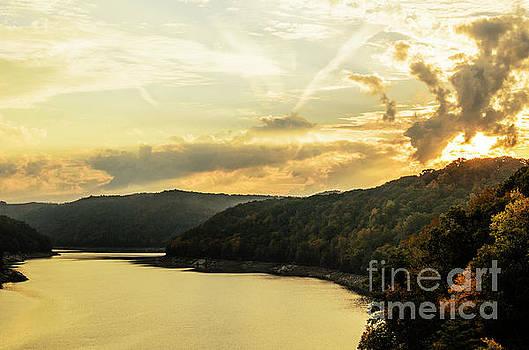 Summersville Lake Autumn Sunrise by Thomas R Fletcher