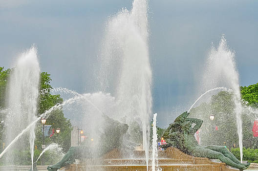 Swann Fountain - Philadelphia by Bill Cannon