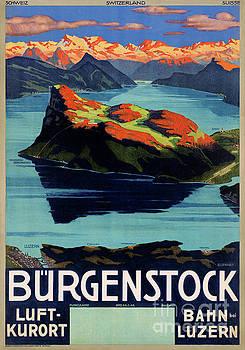 Switzerland Vintage Travel Poster Restored by Carsten Reisinger