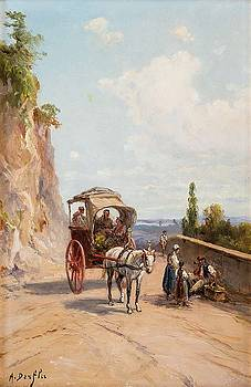 Top A Horse On Mountain Road by Alfred Steinacker