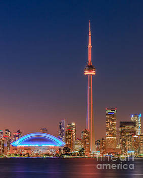 Toronto Skyline after sunset by Henk Meijer Photography