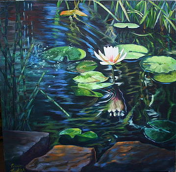 Water Garden Series-E by Patricia Reed