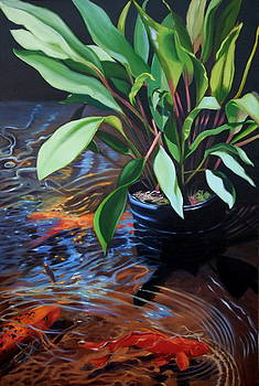 Water Garden Series -F by Patricia Reed