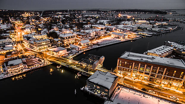 Winter Twilight in Mystic Connecticut by Petr Hejl