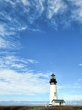 Yaquina Head Lighthouse by Peggy J Hughes