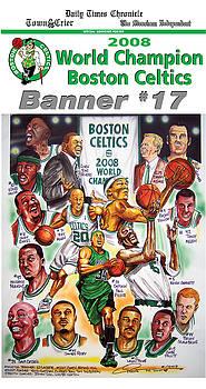 2008 Boston Celtics Team Poster by Dave Olsen