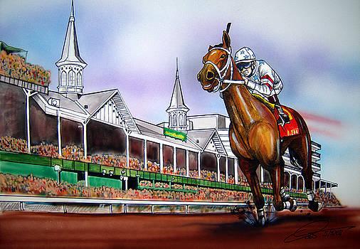 2008 Kentucky Derby Winner Big Brown by Dave Olsen