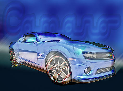 2013 Camaro Automotive Art by Chas Sinklier