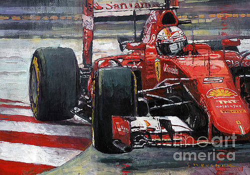 2015 Hungary GP Ferrari SF15T Vettel Winner by Yuriy Shevchuk
