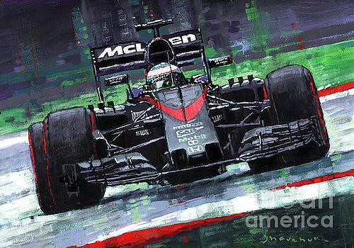 2015 McLaren Honda F1 Austrian GP Alonso  by Yuriy Shevchuk