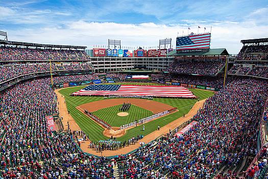 2015 Texas Rangers Home Opener by Mark Whitt