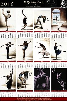 2016 high resolution R Young Art Dance calendar by Richard Young