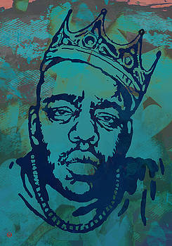 Biggie smalls Modern etching art  poster by Kim Wang