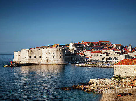 Dubrovnik Old Town View And Coast In Croatia by Jacek Malipan
