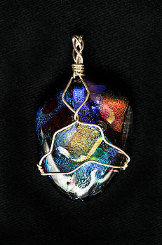 Fused Glass Pendant by Michelle Davidson