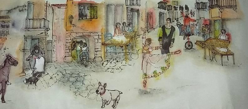 Italy love scroll by Debbi Chan