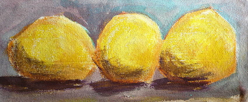 3 Lemons Study by Jane Clatworthy