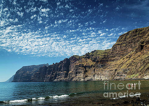 Los Gigantes Cliffs Landmark In South Tenerife Island Spain by Jacek Malipan