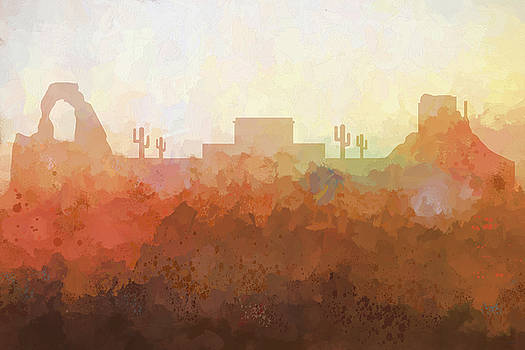 Mesa Arizona Skyline by Marlene Watson