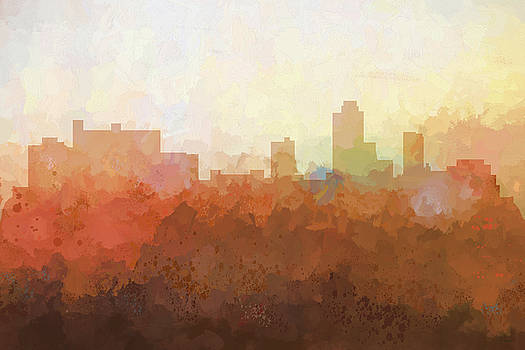 New Brunswick  New Jersey Skyline by Marlene Watson