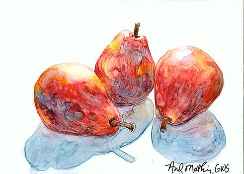 3 Red Pears by Andy  Mathis