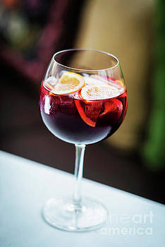 Red Wine Spanish Famous Traditional Sangria Gourmet Cocktail Dri by Jacek Malipan
