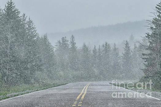 Spring Snow Highland Scenic Highway by Thomas R Fletcher