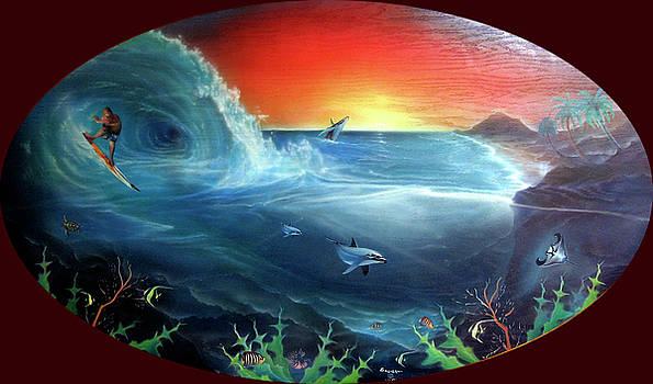 Sunset Surfer by Sevan Thometz