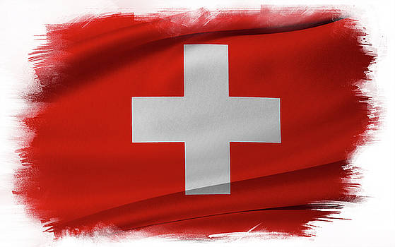 Swiss flag by Les Cunliffe