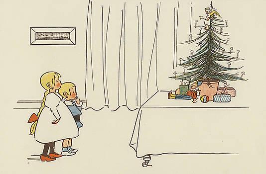 German School - Vintage Christmas Card