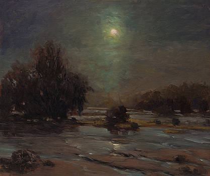 353 Nocturnal Moon by Chuck Larivey