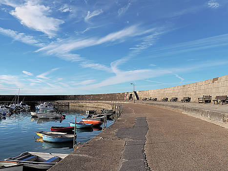 Along The Cobb - Lyme Regis by Susie Peek