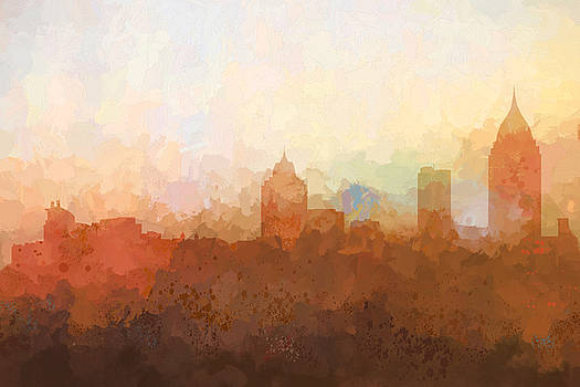 Mobile Alabama Skyline by Marlene Watson