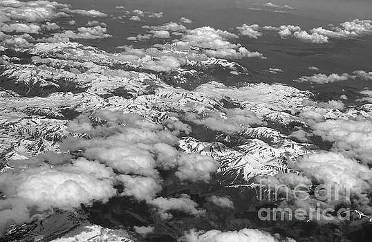 Rocky Mountains black and white by Deniece Platt