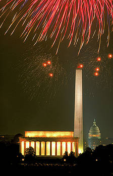 4th of July in Washington, DC by Carl Purcell