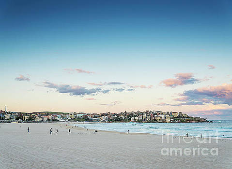 Bondi Beach View At Sunset Dusk Near Sydney Australia by Jacek Malipan