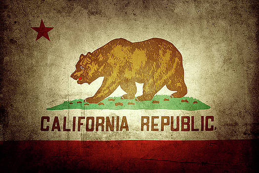 California flag by Les Cunliffe