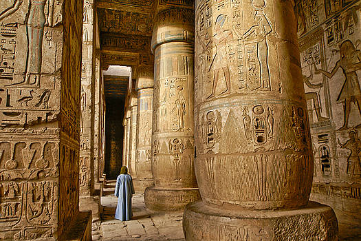 Michele Burgess - Colonnade in an Egyptian Temple