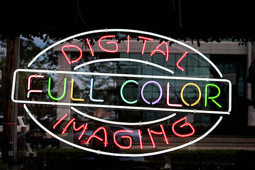 Digital Neon Sign by Carl Purcell