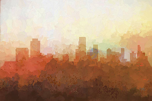 Newark  New Jersey Skyline by Marlene Watson