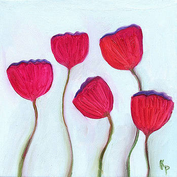 5 Poppies  by Kelly  Parker