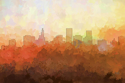 St Paul Minnesota Skyline by Marlene Watson
