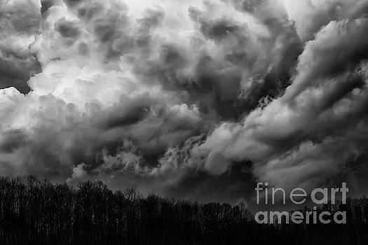 Storm Coming over the Hill by Thomas R Fletcher